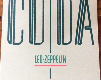 Led Zeppelin CODA Swan Song Album LP Rare vintage