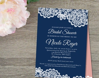 rustic bridal shower invitation lace shower invites wine themed bridal shower