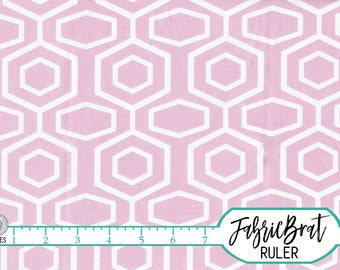 PINK GEOMETRIC Fabric by the Yard, Fat Quarter Fabric Light Pink Hexagon Fabric Apparel Fabric Quilting Fabric 100% Cotton Fabric w2-8