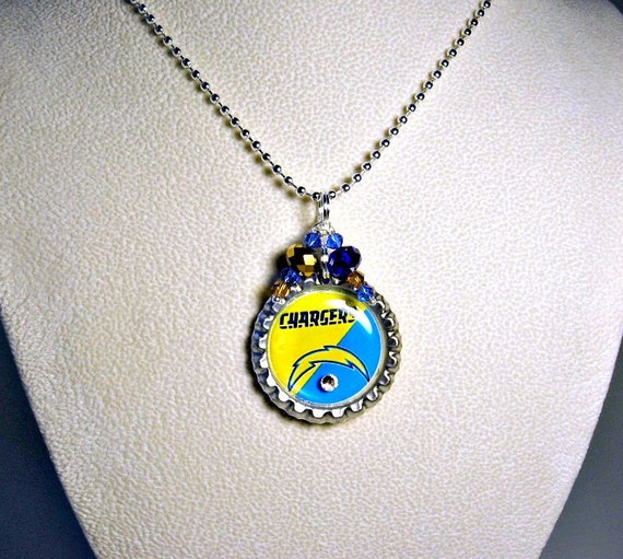 San diego chargers football necklace san diego chargers for Used jewelry san diego