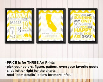 baby room wall decor with stats, birth statistics wall art, new baby announcement, birth stats print, baby nursery wall art, birth wall art