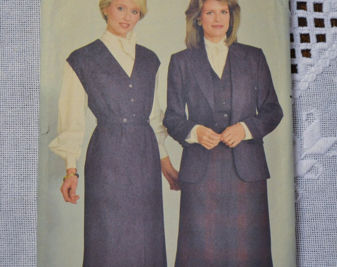 Butterick Sewing Pattern 6092 Misses Jacket and Jumper Size 10 Fashion Clothing DIY Sewing  PanchosPorch