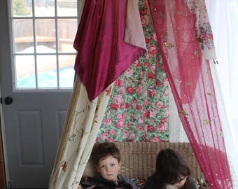 Bohemian Bedroom Canopy bohemian bed canopy | etsy