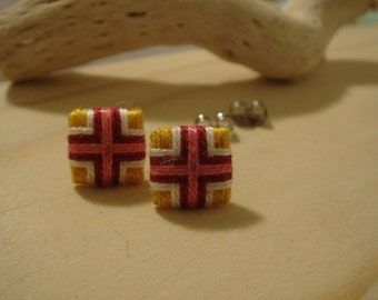 earrings with a network of high quality heavy cotton