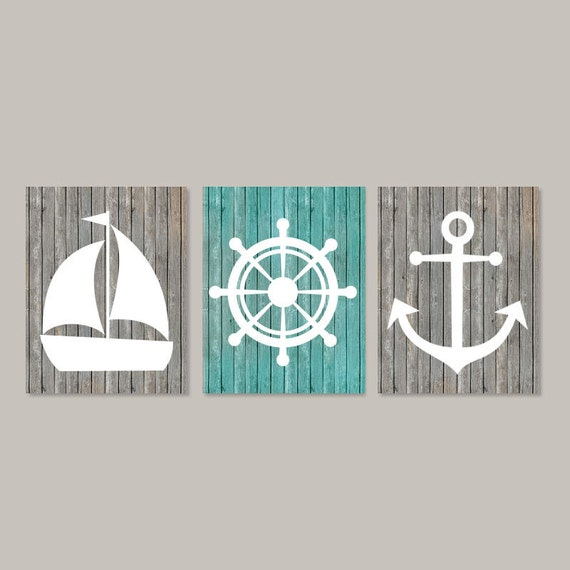 Beach Coastal Wall Decor : Nautical wall decor coastal art beach by