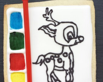 Paint your Own Christmas Cookie / Biscuit - Reindeer