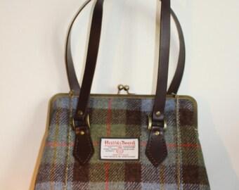Harris Tweed Kisslock Handbag