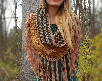 Crochet Fringe Hood/Cowl