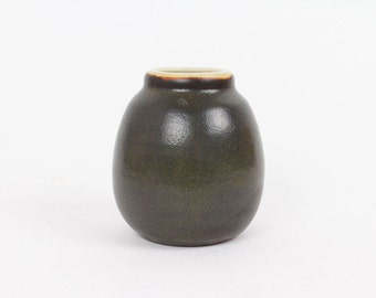 Mobach ceramic vase - Vintage Dutch pottery - dark green