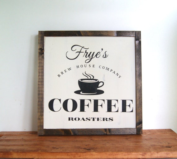 Kitchen Coffee Signs: Custom Wood Coffee Sign Family Name Sign Kitchen Sign