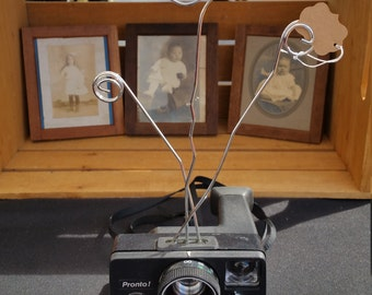 Vintage Polaroid Camera Photo Business Card Holder
