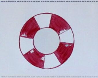 Nautical Border - Vinyl Peel and Stick Wall Border