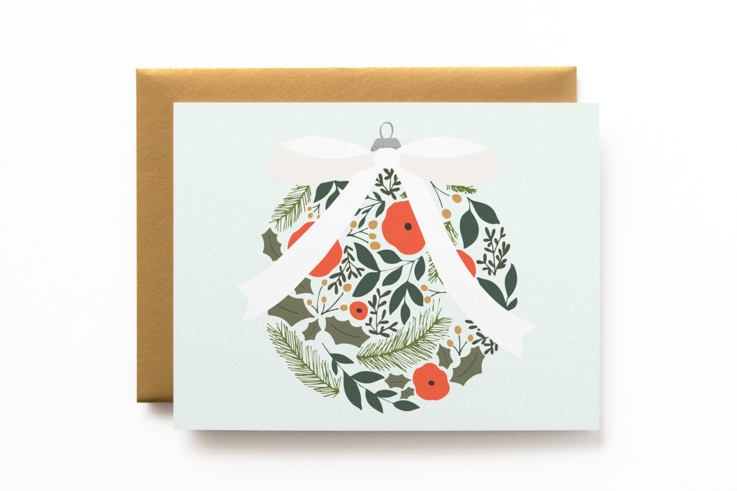 Single Christmas Card | Illustrated Holiday Card, Illustrated ...