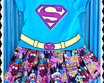 girls Super Girl dress 3t 4T and 5t ready to ship
