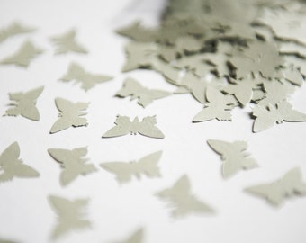 200 Silver Butterflies. Die-cut silver butterfly confetti for wedding decoration - Wedding toss - Silver Butterfly confetti - Baby shower