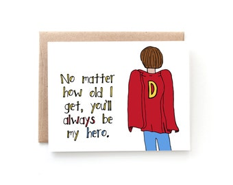 My Hero - Fathers Day Card