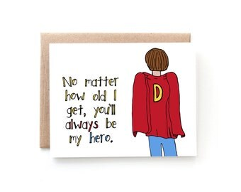 Fathers Day Card From Daughter - Fathers Day Card from Son - Sweet Fathers Day Card - Happy Father's Day