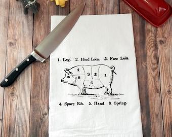 Pork Butcher Cuts Tea Towel