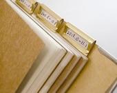 6 pcs Brass Index Clips / Brass Bookmarks