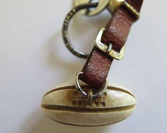 Rugby Ball Keychain//Keychain Rugby Ball//Sports Keyring