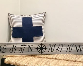 Swiss army cross pillow