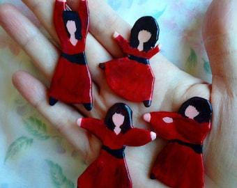 Full Set of Dancing Kate Bush Pins