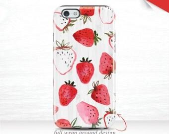 iPhone 7 Case Summer Galaxy S7 Case iPhone 6 Plus Red iPhone 6 Case iPhone 5 Case iPhone 6S Case Strawberries iPhone 7 Plus Case Fruit 16q
