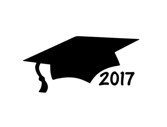 Graduation Cap Car Decal 2017 Graduation Gift Class Of 2017