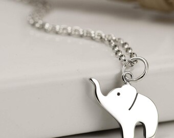 Elephant Necklace - Sterling Silver Elephant Jewellery - Sterling Silver Jewellery - UK Jewellery - Elephant Lover Gift
