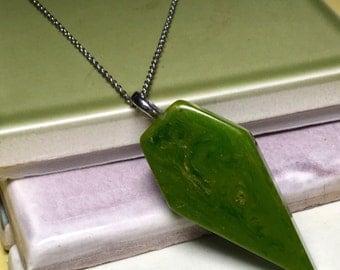 Vintage Green Bakelite Pendant