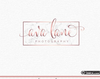 Premade Marble Logo, Rose Gold Logo, Marble and Rose Gold Logo, Photography Logo, Makeup Artist Logo, Stylist Logo, Hair Salon, Watermark