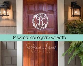 """15"""" Initial Door Wreath"""