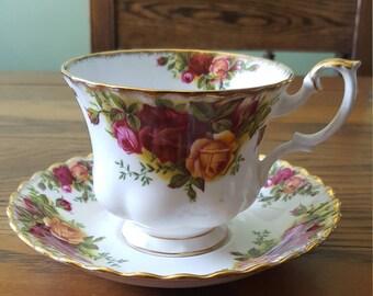 Royal Albert tea cup, old country roses.