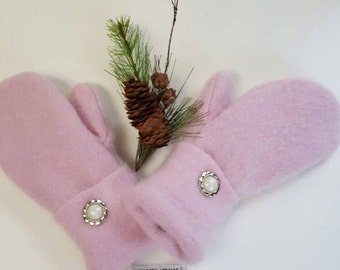 Pink lovers luxurious cashmere mittens, mittens,mittens and muffs,gloves,winter accessories,Michigan made, sweater mittens,gift for her,gift