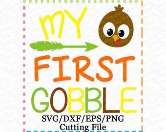 EXCLUSIVE SVG 1st Thanksgiving Turkey svg, baby's first svg, thanksgiving svg, turkey cutting file, 1st first thanksgiving cutting file