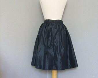 Retro Black Swing Skirt