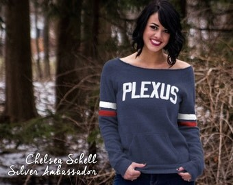 Small - Plexus Navy Vintage Eco-Fleece Sweatshirt w/ Puff Graphic 73756AO