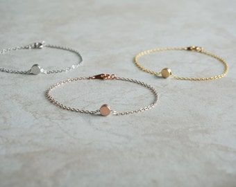 Tiny Dot Bracelet, Rose Gold, Gold, Silver, Dainty, Simple, Wedding Jewelry, Minimalist, Best Friend Gift, Sibling, Petite, Friendship, Mom
