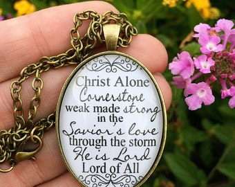 """Hillsong Oval Pendant Necklace """"Cornerstone"""""""