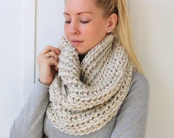 SALE Chunky Knit Cowl | Wheat