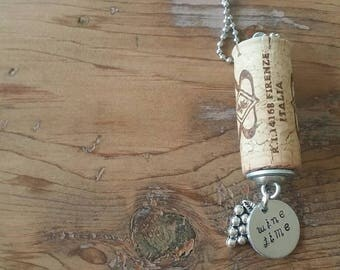 Wine Cork Jewelry, Wine Cork Necklace, Cork necklace, Wine Jewelry, Wine Charms, Personalized Wine Gifts, Wine Gifts for Women