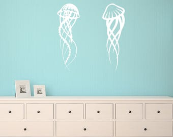 Wall Decal, Jelly Fish, Bathroom Wall Stickers, Bedroom Wall Decal, Kid's Bedroom Wall Decal, Wall Art