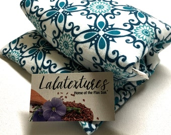 FLAX HEATING PAD,  Microwavable, Mothers day gift , Spa gift, Choice of brushed Flannel washable cover, Flax seed Bag. Fibromyalgia relief