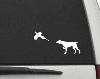 Pointer Pointing Pheasant Decal Sticker for Car or Truck Window or Laptop FREE SHIPPING CW2134 German Shorthaired English