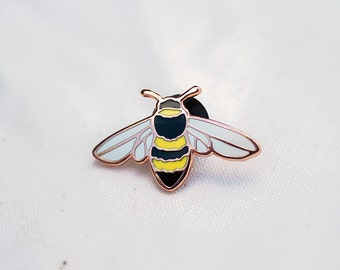 Honey Bee Enamel Pin - Lapel Pin - Badge