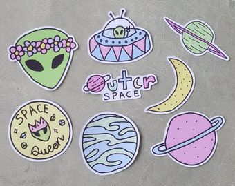 Space Aliens Sticker Pack (Tumblr inspired)