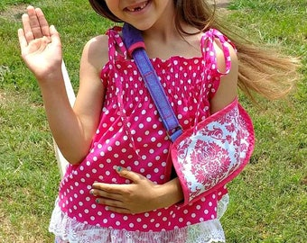 HANDMADE arm sling, pediatric arm sling, toddler arm sling, broken arm sling, cast sling, adult arm sling, orthopedic sling, broken bone