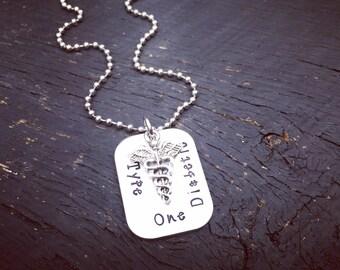 Men's Diabetic Necklace | Men's Medical Alert Necklace | Men's Diabetes Necklace | Men's Diabetic Jewelry | Gift For Diabetic Loved One