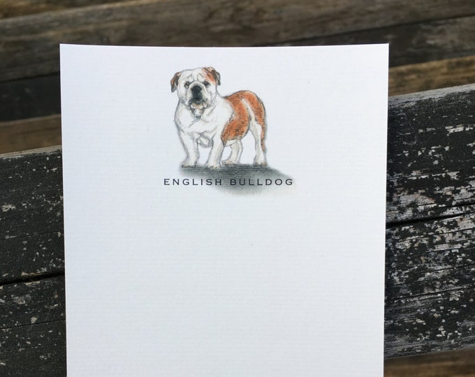 English Bulldog Note Card Set