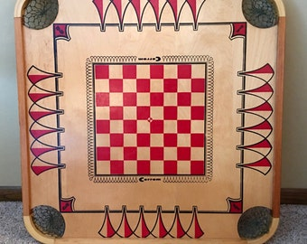 Original Carrom wood game board from the 60s